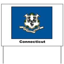 Connecticut State Flag Yard Sign