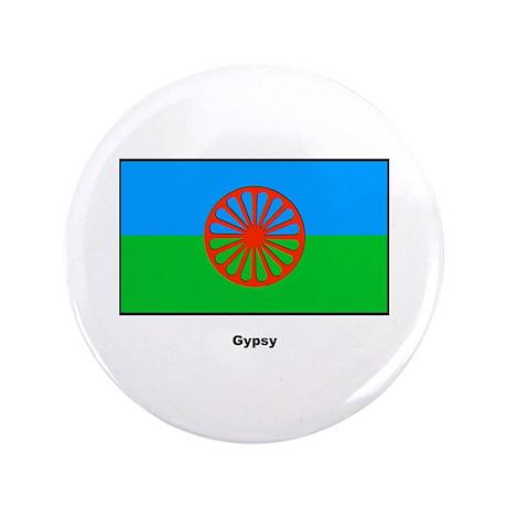 """Gypsy Flag 3.5"""" Button"""