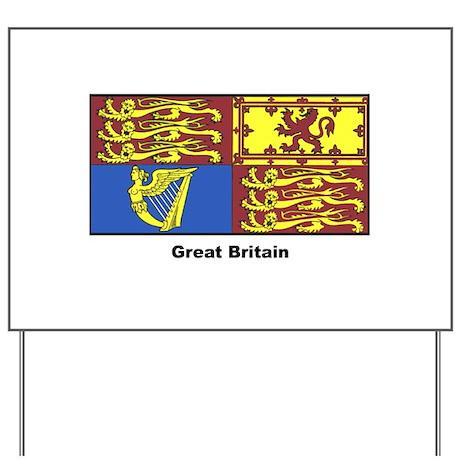 Great Britain Royal Banner Yard Sign