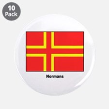 """Norman Ancestry Flag 3.5"""" Button (10 pack)"""