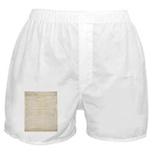 The Us Constitution Boxer Shorts