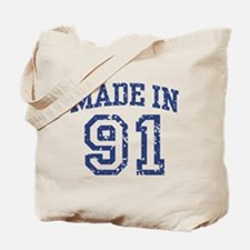 Made in 91 Tote Bag