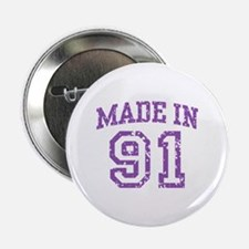 """Made in 91 2.25"""" Button"""