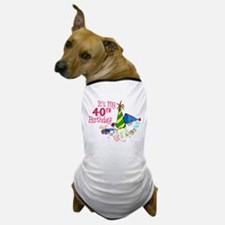 It's My 40th Birthday (Party Hats) Dog T-Shirt