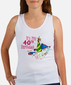 It's My 40th Birthday (Party Hats) Women's Tank To