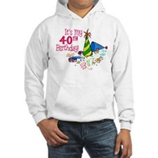 It's My 40th Birthday (Party Hats) Hoodie