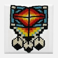 Beaded Tribal Badge Tile Coaster