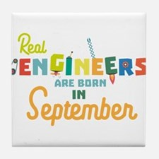 Engineers are born in September Ct500 Tile Coaster