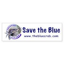"""""""Save the Blue"""" Bumper Car Sticker"""