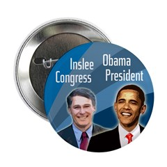 Jay Inslee Barack Obama campaign button