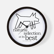 Natural Selection (dog) Wall Clock