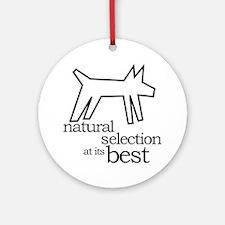 Natural Selection (dog) Keepsake (Round)