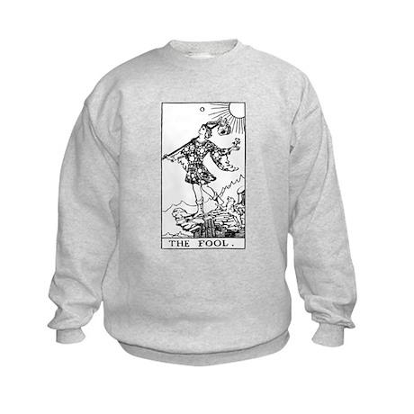 The Fool Rider-Waite Tarot Card Kids Sweatshirt