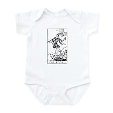 The Fool Rider-Waite Tarot Card Infant Bodysuit
