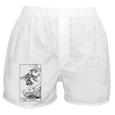 The Fool Rider-Waite Tarot Card Boxer Shorts