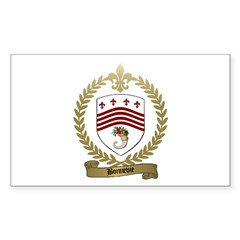 BONNEVIE Family Crest Rectangle Decal