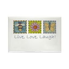 Nature Live,love,laugh Rectangle Magnet Magnets