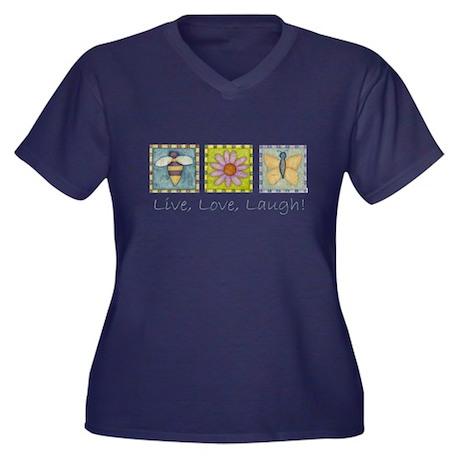 Nature Live,love,laugh Women's Plus Size T-Shirt