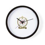 BONNEVIE Family Crest Wall Clock
