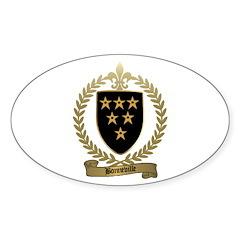 BONNEVILLE Family Crest Oval Sticker