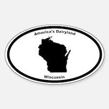 Wisconsin Nickname Oval Decal