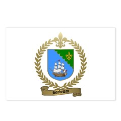 BORDELEAU Family Crest Postcards (Package of 8)