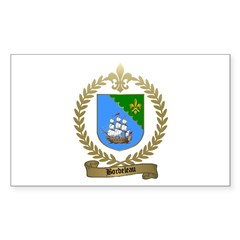BORDELEAU Family Crest Rectangle Decal