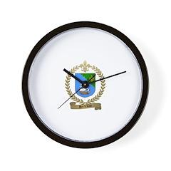 BORDELEAU Family Crest Wall Clock