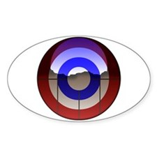 Captain Curl! Oval Decal