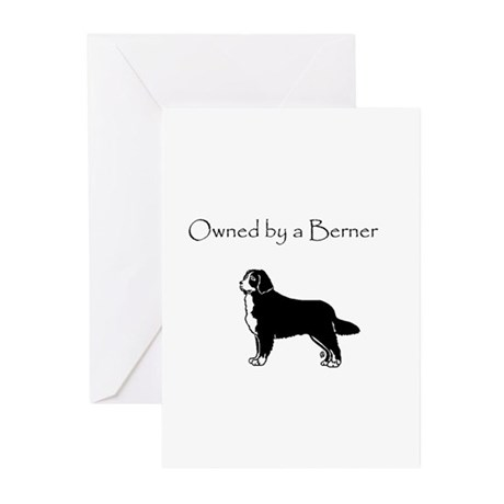 owned by a berner Greeting Cards