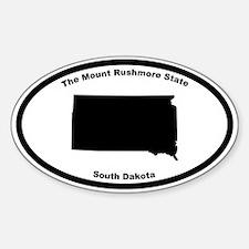 South Dakota Nickname Oval Decal