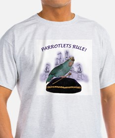Parrotlets Rule! Blue Female  Ash Grey T-Shirt