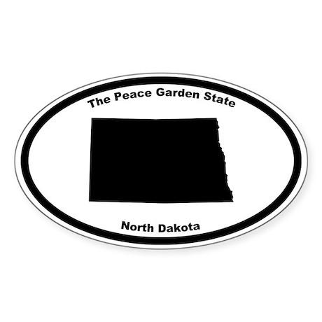 North Dakota Nickname Oval Sticker