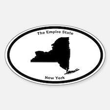 New York Nickname Oval Decal