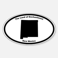 New Mexico Nickname Oval Decal