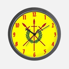 Red Spears Arms Wall Clock