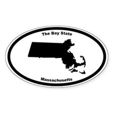 Massachusetts Nickname Oval Decal