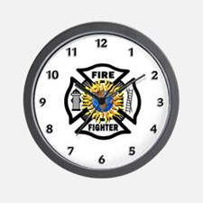 Firefighter Energy Wall Clock