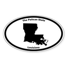Louisiana Nickname Oval Decal