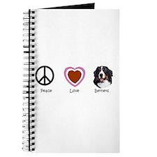 Cute Peace love dogs Journal