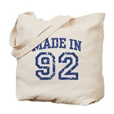 Made in 92 Tote Bag