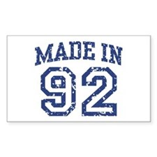 Made in 92 Rectangle Decal