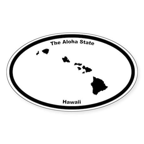 Hawaii Nickname Oval Sticker