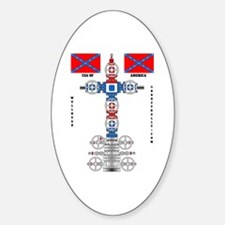 Confederate States Wellhead Oval Decal