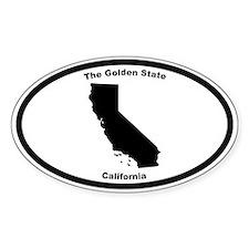 California Nickname Oval Decal