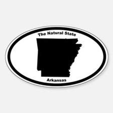 Arkansas Nickname Oval Decal