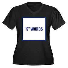 Trebek Women's Plus Size V-Neck Dark T-Shirt