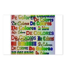 De Colores Fonts Postcards (Package of 8)
