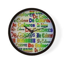 De Colores Fonts Wall Clock