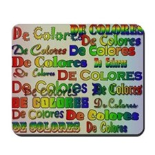De Colores Fonts Mousepad